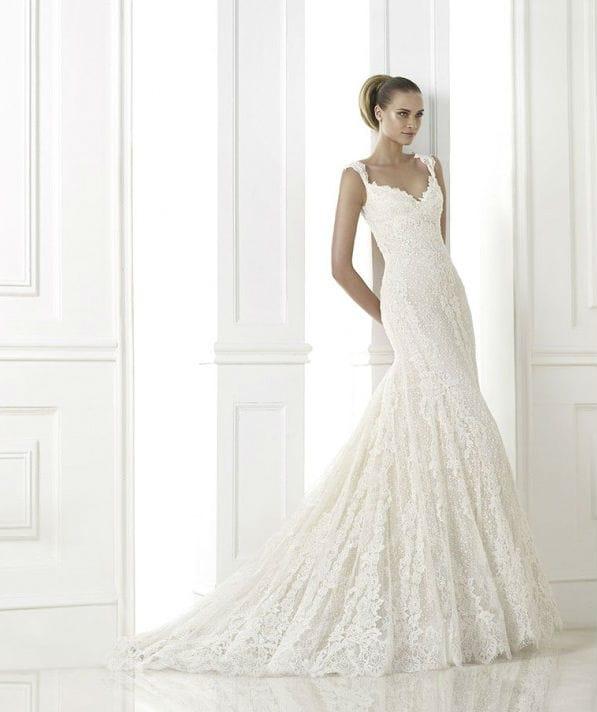 Kala vestuvinė suknelė
