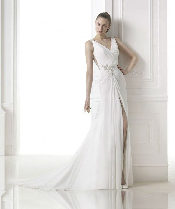Maranta vestuvinė suknelė