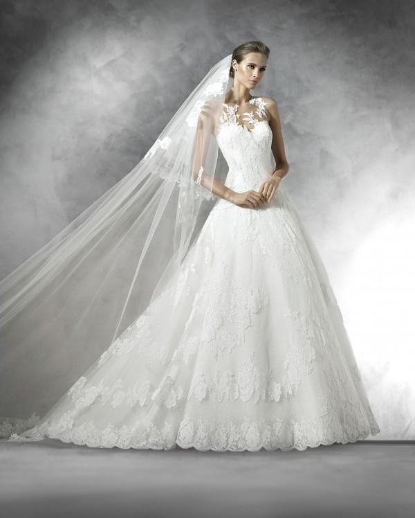 Plania vestuvinė suknelė