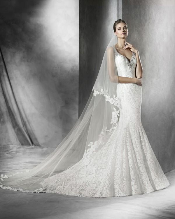 Prama vestuvinė suknelė
