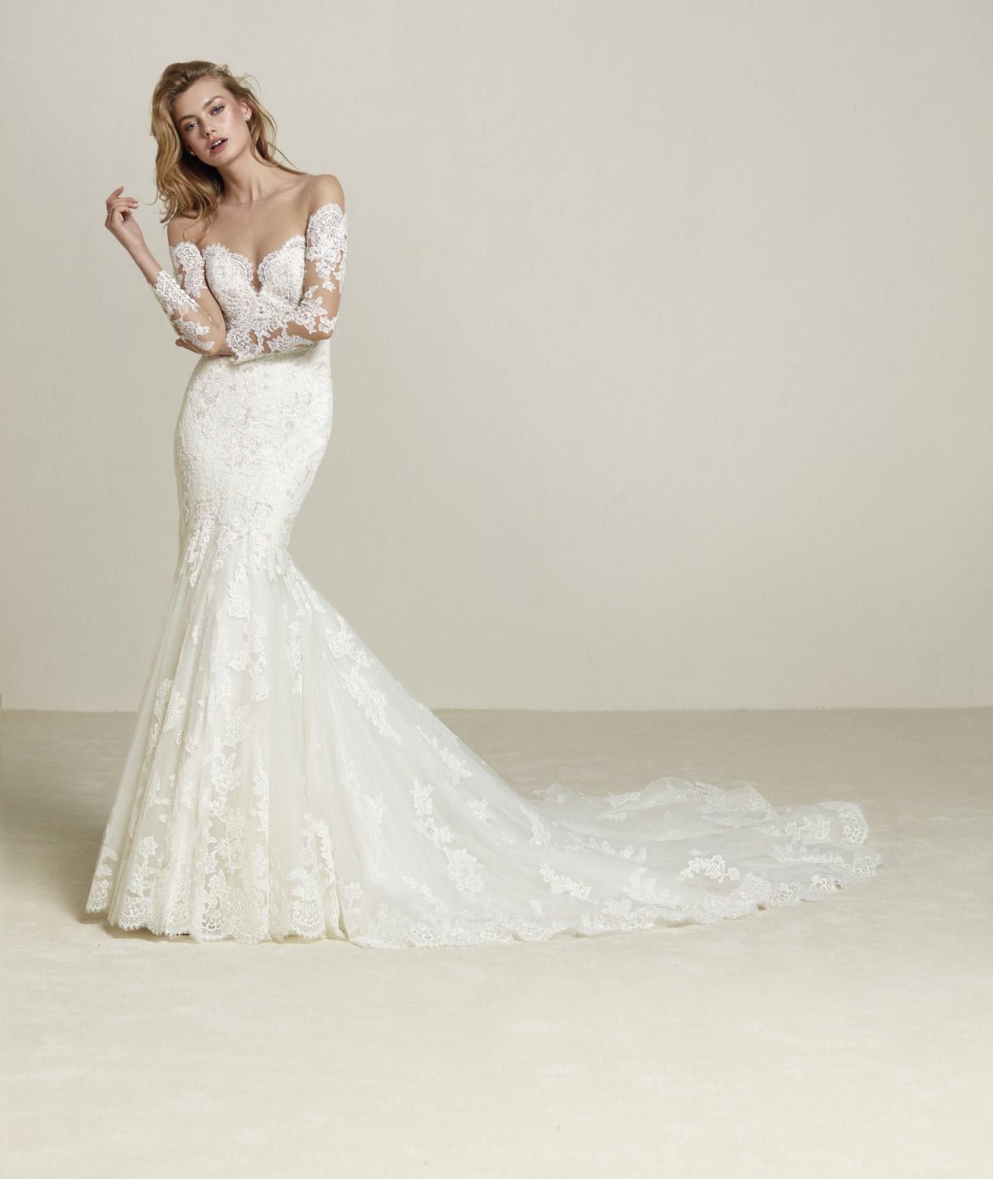 vestuvines sukneles pronovias drilia
